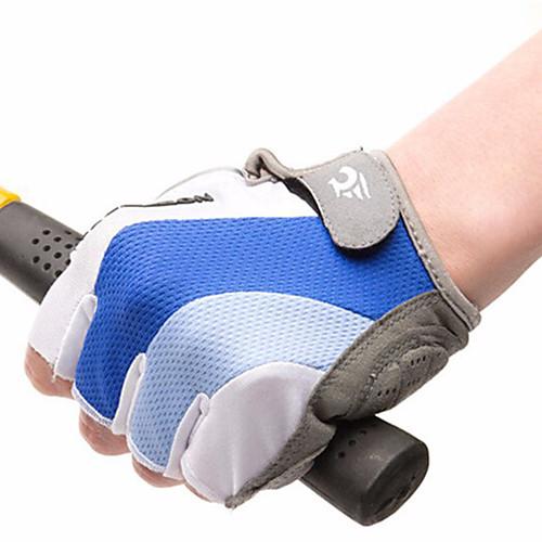WEST BIKING Перчатки для велосипедистов Дышащий Противозаносный Впитывает пот и влагу Защитный Полупальцами Спортивные перчатки Силиконовый гель Горные велосипеды Белый синий для Взрослые