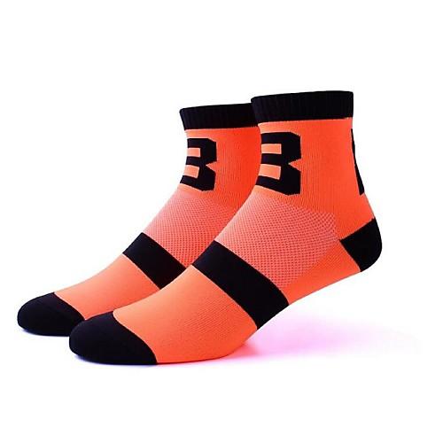 Компрессионные носки Носки до щиколотки Спортивные носки Носки для велоспорта Муж. Жен. Велосипедный спорт / Велоспорт Велоспорт Анатомический дизайн Воздухопроницаемость Антибактериальный 1 пара фото
