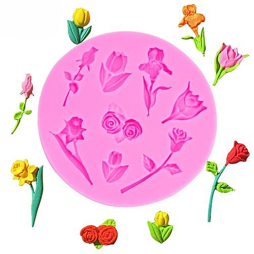 день святого валентина розы цветы в форме помады силиконовые формы торт