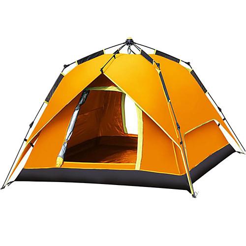 Shamocamel 4 человека Автоматический тент На открытом воздухе Водонепроницаемость С защитой от ветра UPF 50 Двухслойные зонты Автоматический Сферическая Палатка 2000-3000 mm для, Синий