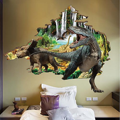 Декоративные наклейки на стены / Наклейки на холодильник - Простые наклейки / 3D наклейки Пейзаж / 3D Спальня / В помещении фото