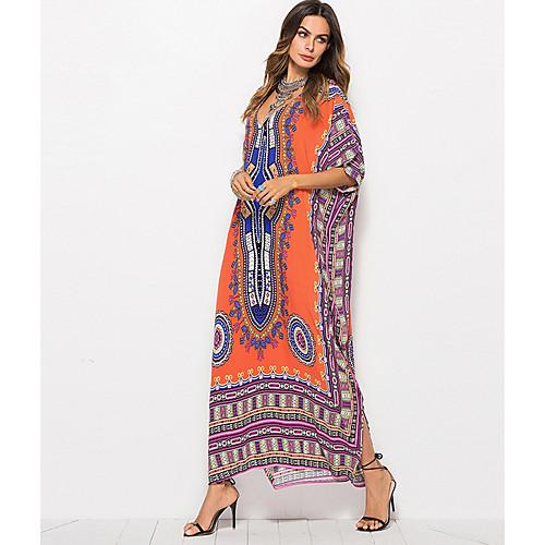 lightinthebox / Mujer Playa Corte Ancho Kaftan Vestido Maxi