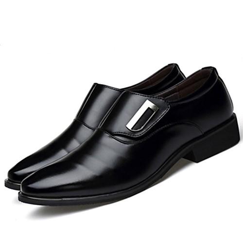Муж. Официальная обувь Оксфорд / Полиуретан Весна & осень Удобная обувь Туфли на шнуровке Черный / Коричневый / Для вечеринки / ужина