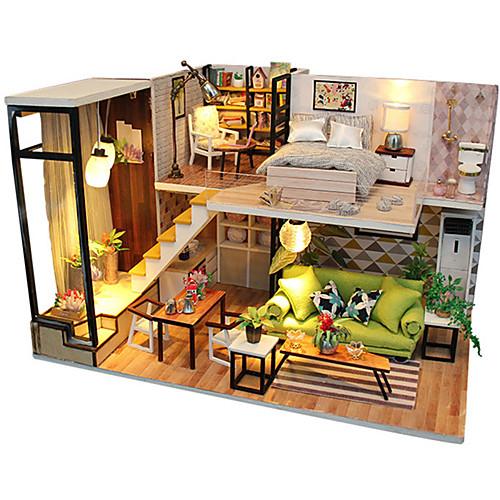 Кукольный домик Творчество Своими руками моделирование Мебель деревянный Детские Все Игрушки Подарок / Взаимодействие родителей и детей