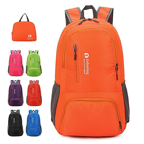 Легкий упаковываемый рюкзак Рюкзаки Заплечный рюкзак 25 L - Легкость Дожденепроницаемый Пригодно для носки На открытом воздухе Пешеходный туризм Нейлон Зеленый Синий Серый
