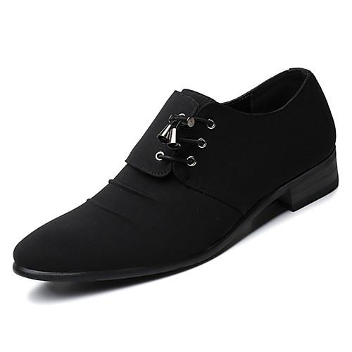 Муж. Комфортная обувь Полиуретан Осень Туфли на шнуровке Черный