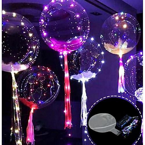 3m 30led лампа строка светящиеся ведомые воздушные шары прозрачные гелиевые шарики с днем рождения вечеринки украшения дети свадьба вел воздушные шары Рождество новый год фото