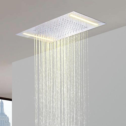 нержавеющая сталь 304 110V ~ 220В переменного тока ванная комната тропическим душем голову энергосбережения светодиодные лампы