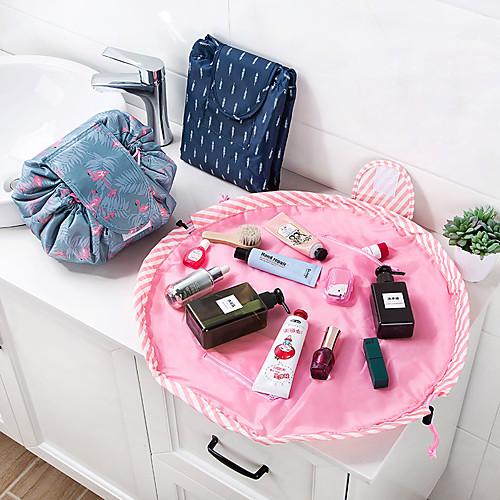 животное фламинго косметическая сумка профессиональное drawstring макияж дело женщины путешествия составляют организатор хранения сумка туалетная стирка