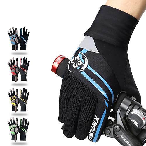 Зима Перчатки для велосипедистов Перчатки для горного велосипеда Горные велосипеды Сохраняет тепло Сенсорный экран Дышащий На подкладке Полный палец Перчатки для тач-скрина Спортивные перчатки фото