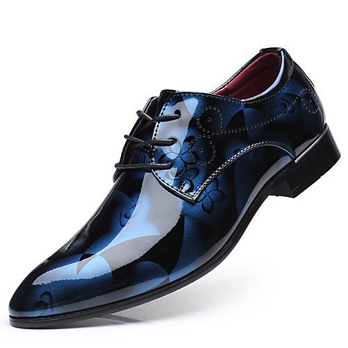 Муж. Официальная обувь Полиуретан Весна Деловые Туфли на шнуровке Желтый / Красный / Синий