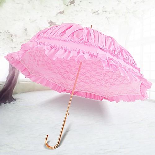 Ручка крючком Свадьба / Повседневные Зонт Уникальный декор для свадьбы / Зонт от дождя / солнца 85 см