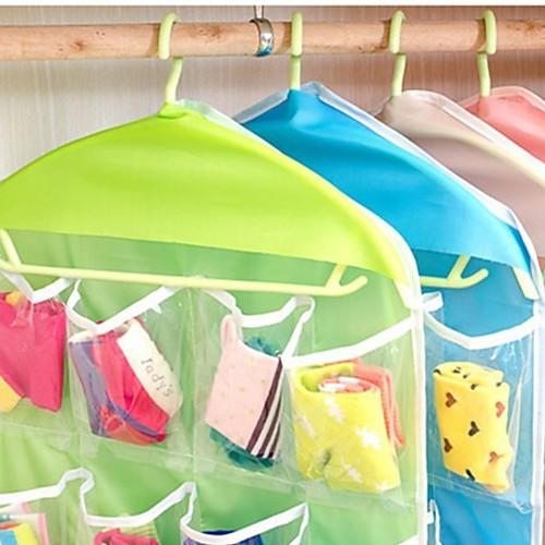 Удобство 16 сетки хранения сумки пространство заставка организатор шкаф хранения нижнее белье носок хранения сумка фото