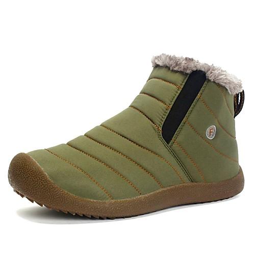 Муж. Зимние сапоги Синтетика Зима Спортивные / На каждый день Ботинки Для прогулок Сохраняет тепло Черный / Темно-синий / Военно-зеленный