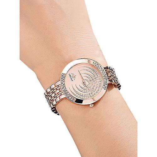 Жен. Наручные часы Diamond Watch золотые часы Кварцевый Серебристый металл / Золотистый / Розовое золото 30 m Защита от влаги Имитация Алмазный Аналоговый Дамы На каждый день Мода -
