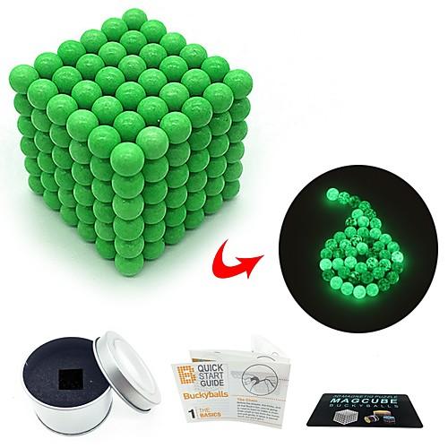 216 pcs 3mm Магнитные игрушки Магнитные шарики Магнитные игрушки Конструкторы Сильные магниты из редкоземельных металлов Неодимовый магнит Магнитный Светится в темноте / Фосфоресцирующий фото