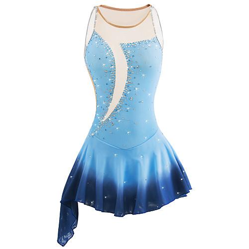 21Grams Платье для фигурного катания Жен. Девочки Катание на коньках Платья Синий покраска