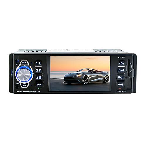 3.5 дюймовый 1 Din Встроенный Bluetooth для Универсальный Поддержка / MP3 / WAV / SD карта, Черный