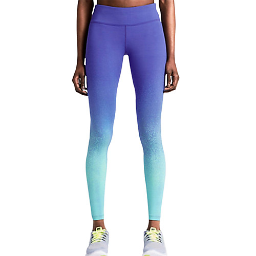 Women's Pocket Running Tights Blue Sports Fashion Leggings Yoga Exercise & Fitness Gym Workout Activewear Lightweight Breathable Quick Dry High Elasticity