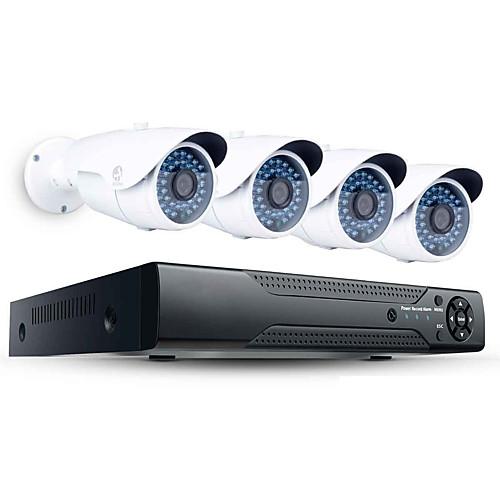 jooan 2mp 4ch система безопасности высокого разрешения nvr с 4pcs 1080p наружной ip-камерой