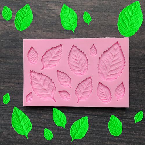Листья силиконовые формы помадка плесень украшения торта инструменты шоколад плесень выпечки плесень фото