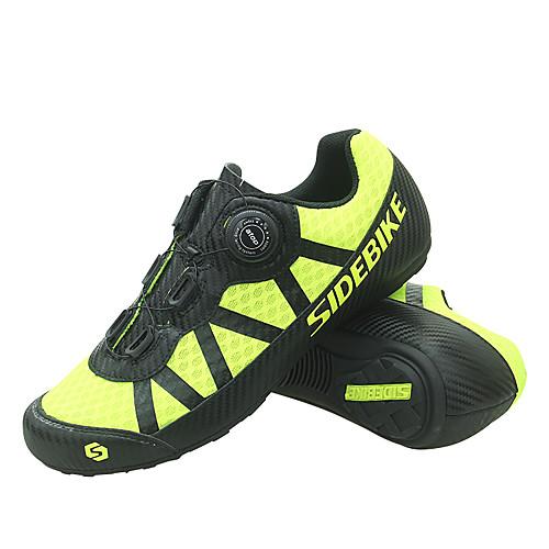 SIDEBIKE Взрослые Обувь для велоспорта Дышащий Противозаносный Горный велосипед Шоссейные велосипеды Велосипедный спорт / Велоспорт Желтый Муж. Жен. Обувь для велоспорта фото