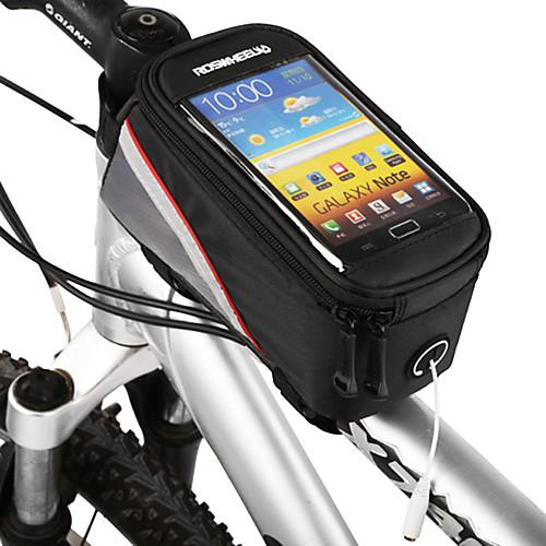 ROSWHEEL Сотовый телефон сумка Бардачок на раму 4.2 дюймовый Сенсорный экран Велоспорт для Samsung Galaxy S6 LG G3 Samsung Galaxy S4 Черный Велосипедный спорт / Велоспорт / iPhone X / iPhone XR