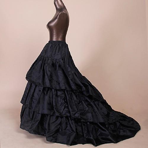 Нижняя юбка пачка Под юбкой 1950-е года Черный Нижняя юбка / Кринолин фото