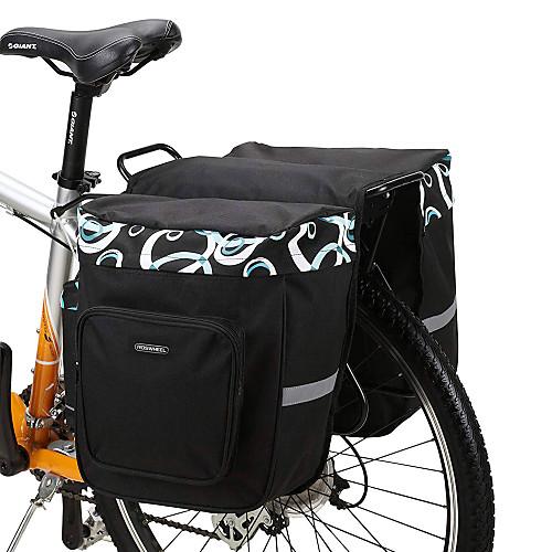 ROSWHEEL 30 L Сумка на багажник велосипеда / Сумка на бока багажника велосипеда Сумки на багажник велосипеда Регулируется Большая вместимость Водонепроницаемость Велосумка/бардачок Сетка 600D фото