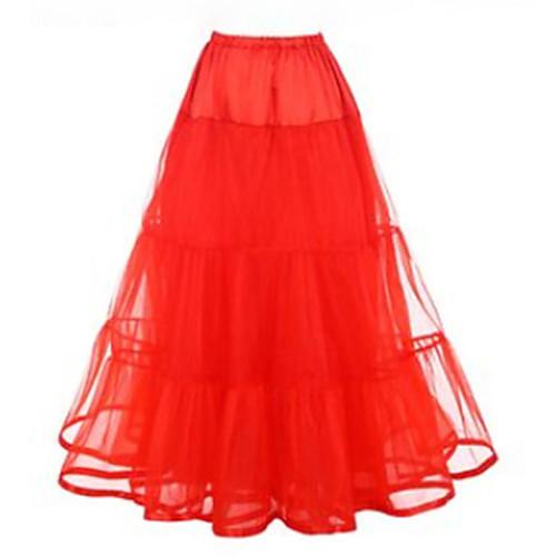 Нижняя юбка пачка Под юбкой 1950-е года Розовый Цвет фуксии Со стразами Нижняя юбка / Кринолин