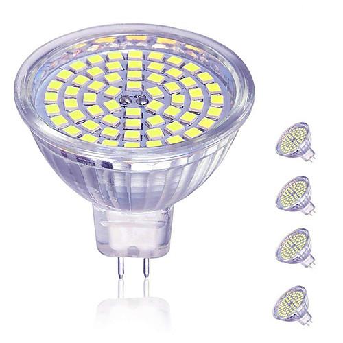 4шт 5 W 450 lm MR16 Точечное LED освещение 60 Светодиодные бусины SMD 2835 Декоративная Милый Тёплый белый Холодный белый 12 V