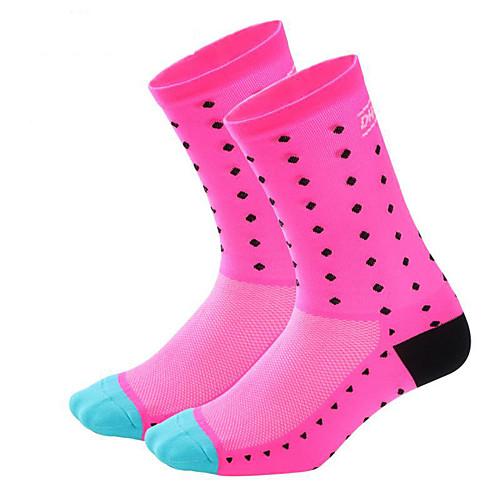 Муж. Жен. Носки для бега Спортивные носки Носки для велоспорта компрессия Носки Дышащий Впитывает пот и влагу Зеленый Синий Розовый Шоссейный велосипед Горный велосипед Бег Эластичность фото