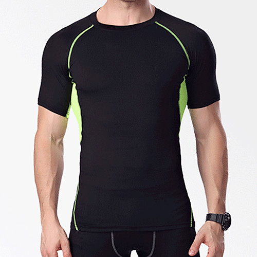Компрессионная одежда Компрессионная футболка Муж. На открытом воздухе Велосипедный спорт / Велоспорт Велоспорт Сохраняет тепло Влагоотводящие Быстровысыхающий / Слабоэластичная / Горные велосипеды