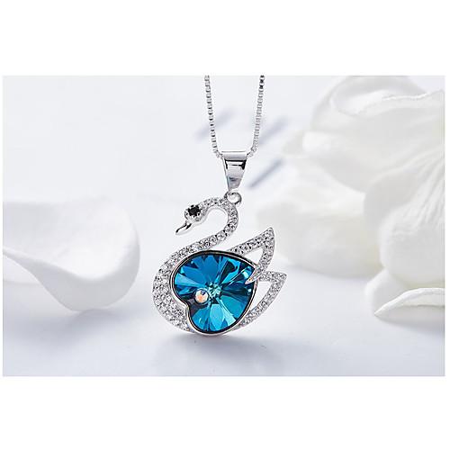 Жен. Ожерелья с подвесками Серебристый Лиловый Синий Розовый 45 cm Ожерелье Бижутерия 1шт Назначение Свадьба Обручение Подарок Для вечеринок