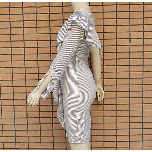 lightinthebox / Mujer Corte Bodycon Vestido Sobre la rodilla Un Hombro