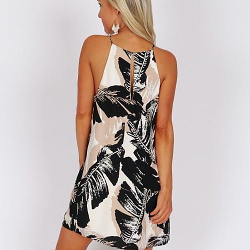 lightinthebox / Mulheres Básico Evasê Vestido - Estampado, Geométrica Mini