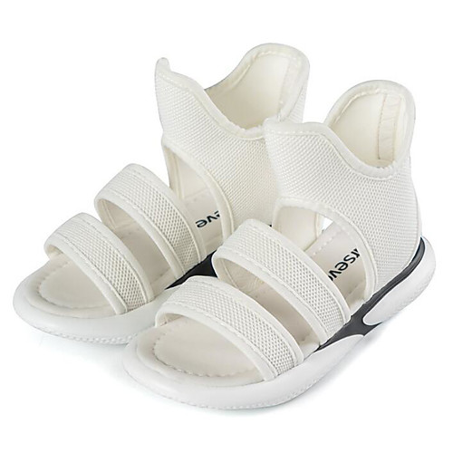 Девочки Flyknit Сандалии Малыш (9м-4ys) / Маленькие дети (4-7 лет) / Большие дети (7 лет ) Удобная обувь Белый / Черный Лето