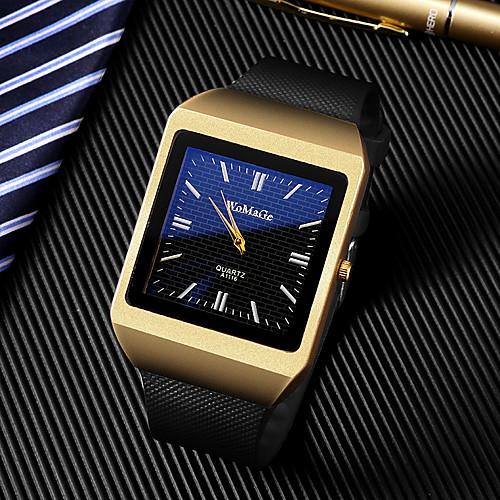 Муж. Нарядные часы Кварцевый Pезина Черный Повседневные часы Крупный циферблат Аналоговый Роскошь Мода - Золотой Золотой черный Золотой белый Один год Срок службы батареи