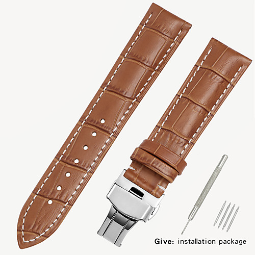кожзаменитель 1853 мужские кожаные часы с локером женские кожаные аксессуары King Casio Longines 16/18/19/20 мм