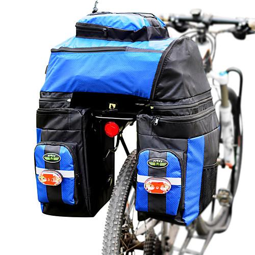 FJQXZ 70 L Сумка на багажник велосипеда / Сумка на бока багажника велосипеда 3 В 1 Регулируется Большая вместимость Велосумка/бардачок Полиэстер 1680D Велосумка/бардачок Велосумка