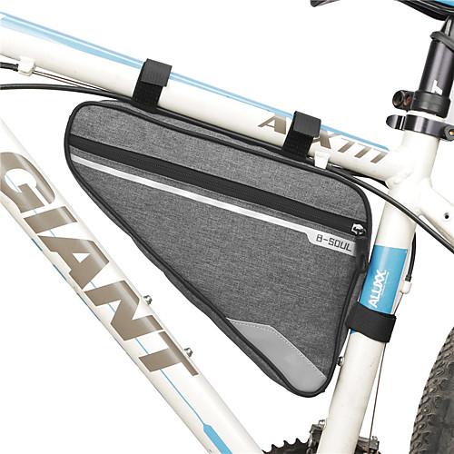 B-SOUL 2 L Бардачок на раму Сумка с треугольной рамкой Водонепроницаемость Компактность Со светоотражающими полосками Велосумка/бардачок Терилен Велосумка/бардачок Велосумка Велосипедный спорт фото