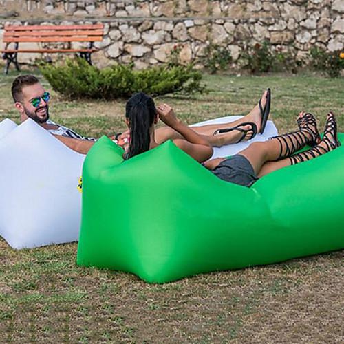 Надувной диван Надувной матрас Надувной стул Дизайн-идеальный диван На открытом воздухе Походы Водонепроницаемость Компактность Влагонепроницаемый Оксфорд 26070 cm Отдых и Туризм Пляж Путешествия фото