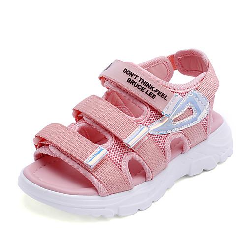 Мальчики / Девочки Сетка Сандалии Малыш (9м-4ys) / Маленькие дети (4-7 лет) / Большие дети (7 лет ) Удобная обувь Белый / Черный / Розовый Лето
