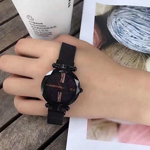 Жен. Механические часы Кварцевый Нержавеющая сталь Защита от влаги Аналоговый Мода - Лиловый Синий Розовое золото