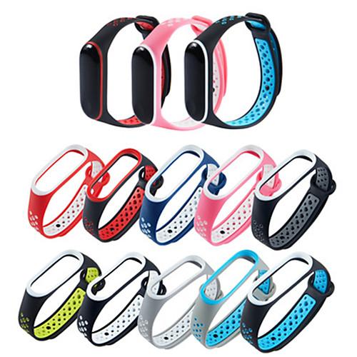 Двойной цветной ремешок для xiaomi mi band 3/4 часы умный браслет ремешок водонепроницаемый чехол силиконовый ремешок для часов фото