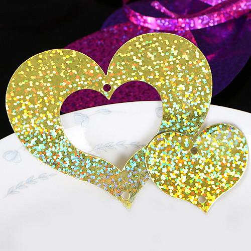 Праздничные украшения День Святого Валентина Декоративные объекты Для вечеринок Золотой 1шт