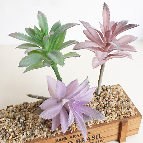 искусственные цветы 3 ветки узкие листья классика современные современные стильные суккулентные растения настольный цветок