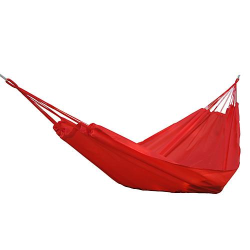 Туристический гамак На открытом воздухе Пригодно для носки Складной Нейлоновое волокно для 1 - 2 человека Походы Синий Оранжевый Красный 300150 cm