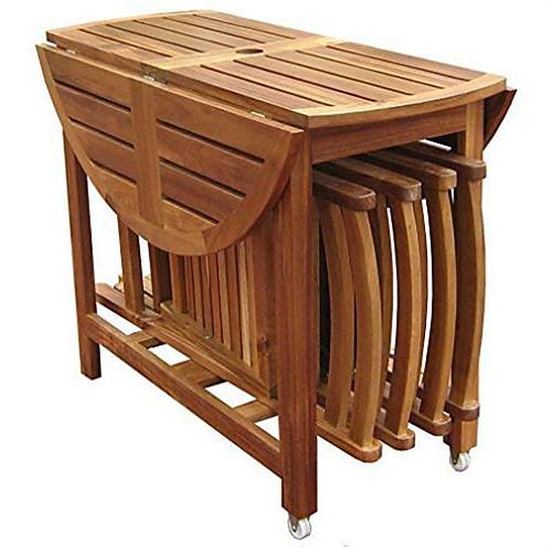 Mesas Plegables De Madera Para Comedor.Lightinthebox Mesa De Comedor Plegable Para Patio Con
