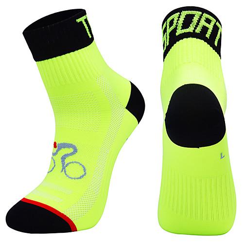 Компрессионные носки Спортивные носки Толстые короткие носки Носки для велоспорта Муж. Футбол Велосипедный спорт / Велоспорт Велоспорт Дышащий Пригодно для носки 1 пара Зима Сплошной цвет Чинлон фото